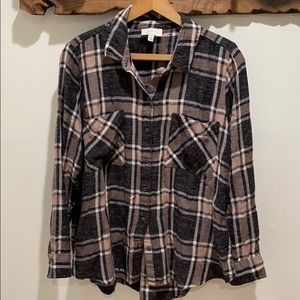 lucky brand plaid shirt large